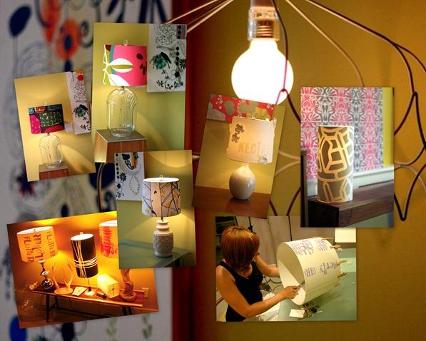 Lit lamps