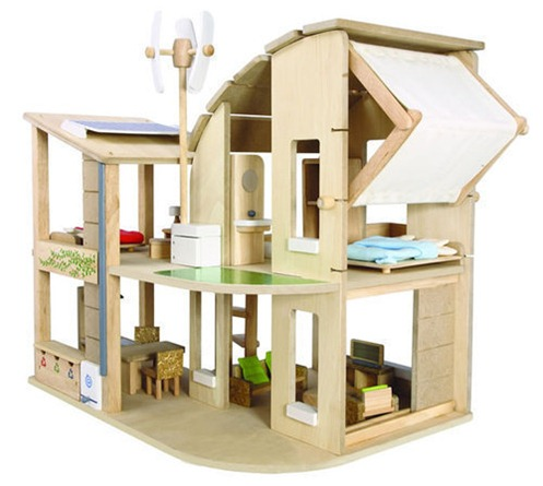 71560-Green-Dollhouse-with-furniture-1