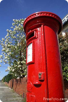 Royal Mail red pillar box