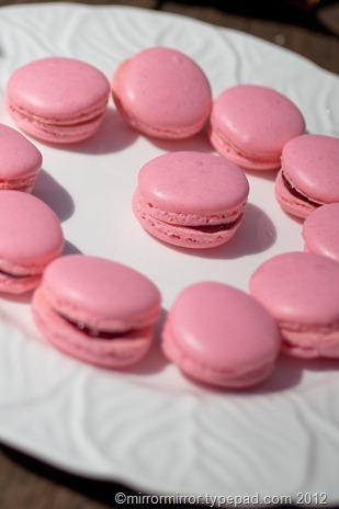 raspberry-macarons