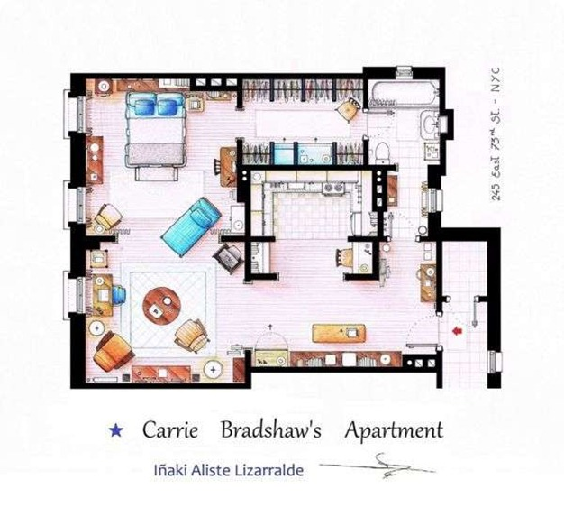 carrie-bradshaw-apartment-floorplan