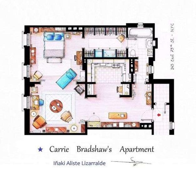 carrie-bradshaw-apartment-floorplan