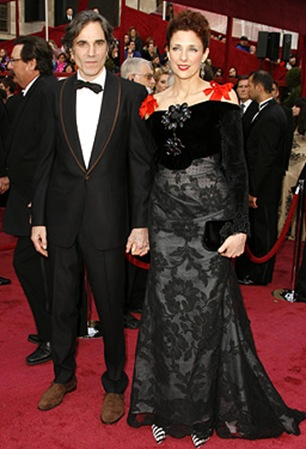 Actress Daniel Day-Lewis and wife Rebecca Miller attend the 80th