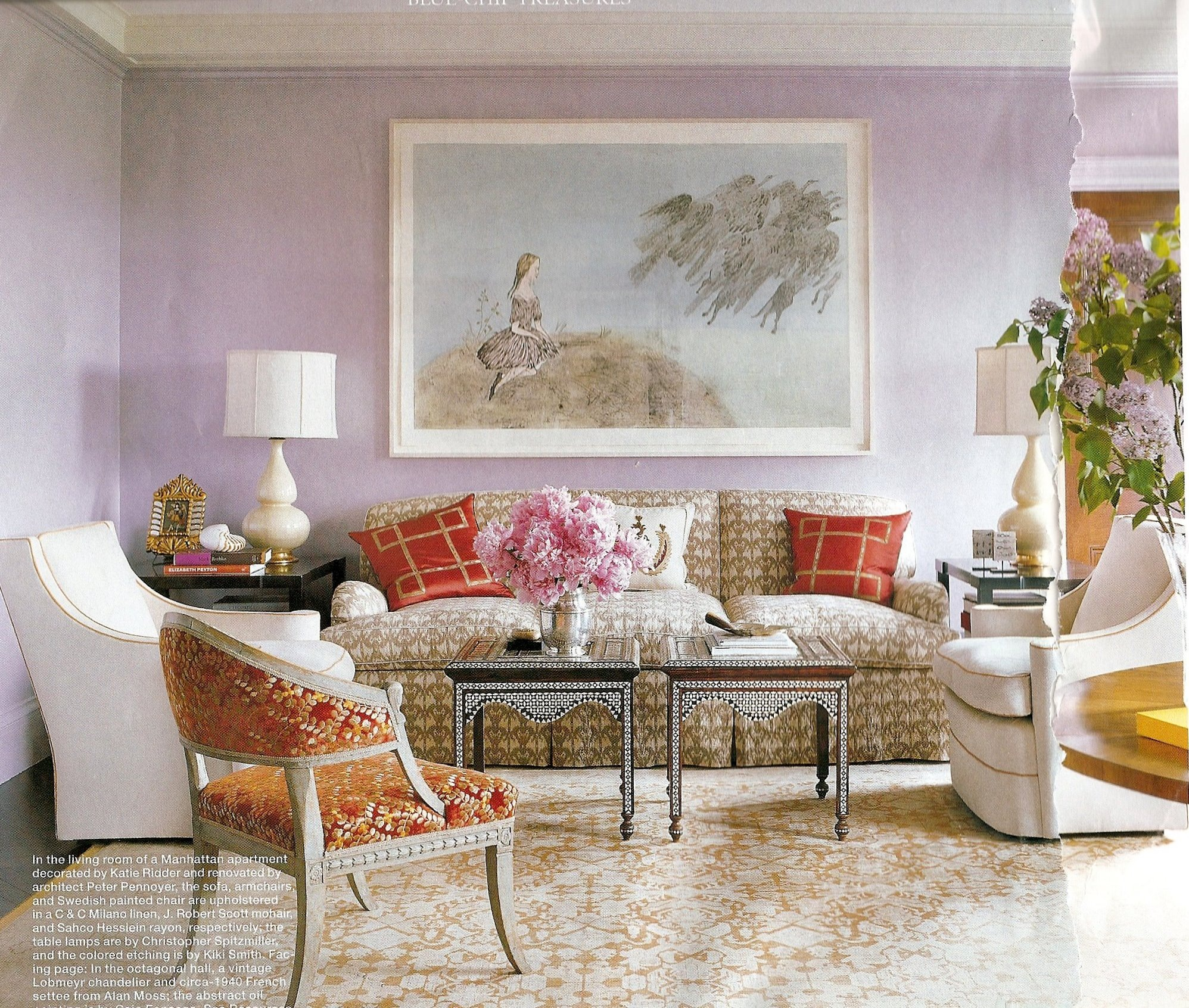 Interiors Furniture & Design: Living Rooms Elle Decor